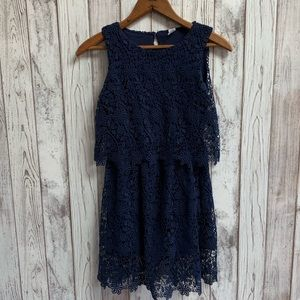Zara kids blue lace dress size 11/12 years